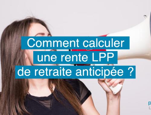 Comment calculer une rente LPP de retraite anticipée ?